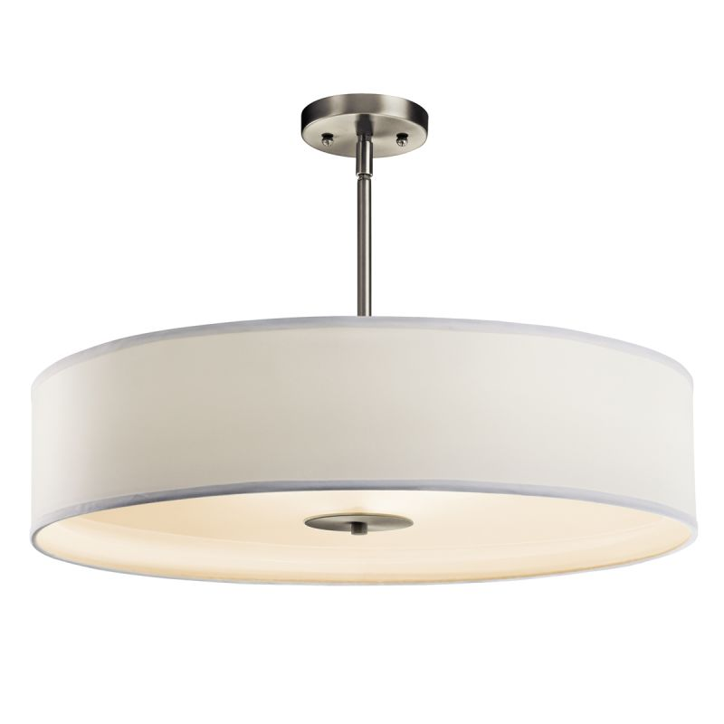 3 bulb ceiling light contemporary kichler 42122ni brushed nickel light 24