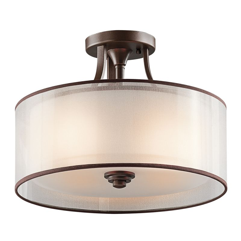 semi flush ceiling lights for kitchen light brushed nickel mount home depot mission bronze wide fixture organza shade diffuser
