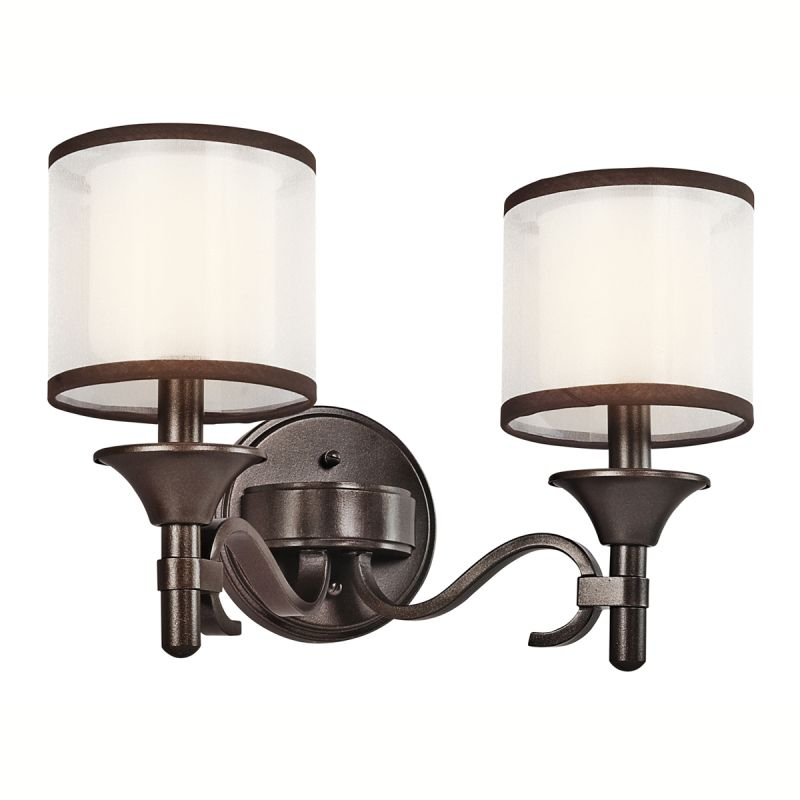"Bathroom Light Fixtures Kichler kichler 45282ap antique pewter lacey 14"" wide 2-bulb bathroom"