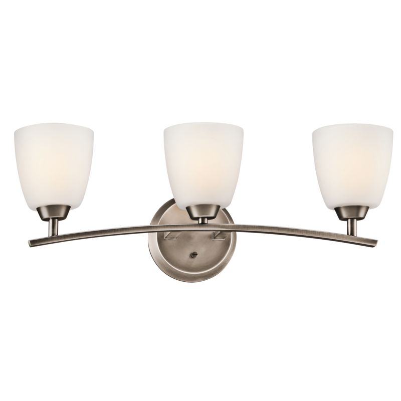 Kichler Bathroom Fixtures Indoor Lighting - Kichler chrome bathroom lighting