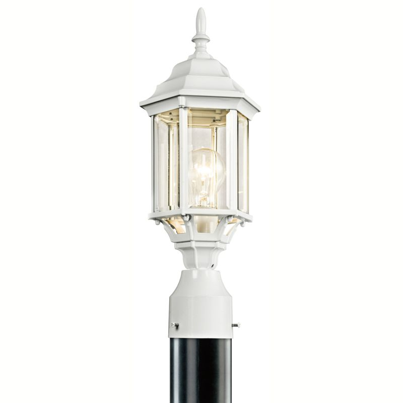 Kichler 49256bks black chesapeake 1 light outdoor post light kichler 49256bks black chesapeake 1 light outdoor post light lightingdirect aloadofball Gallery