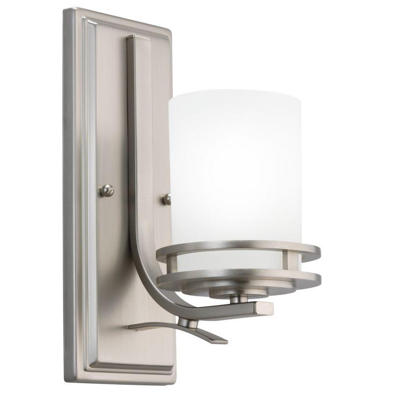 kichler 5076ch chrome hendrik single light 12 tall wall sconce with