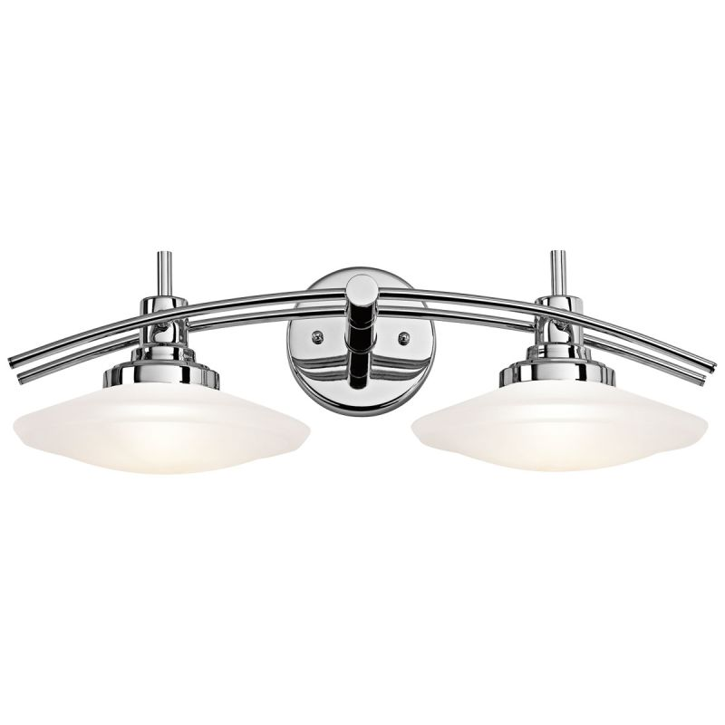Kichler 6162ni brushed nickel structures 2 light 21 wide vanity kichler 6162ni brushed nickel structures 2 light 21 wide vanity light bathroom fixture with satin etched glass shades lightingdirect aloadofball Images