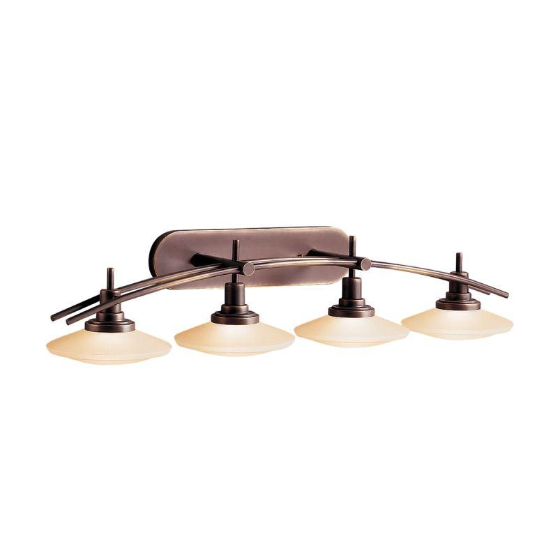 """Bathroom Light Fixtures Bronze kichler 6464ni brushed nickel structures 4 light 40"""" wide vanity"""