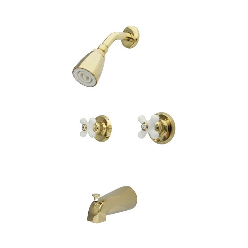 Kingston Brass Kb242px Polished Brass Magellan Tub And Shower Trim