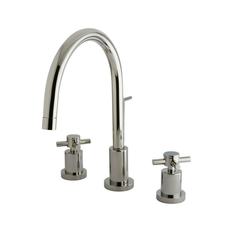 Kingston Brass KS8921DX Polished Chrome Concord Widespread Bathroom ...