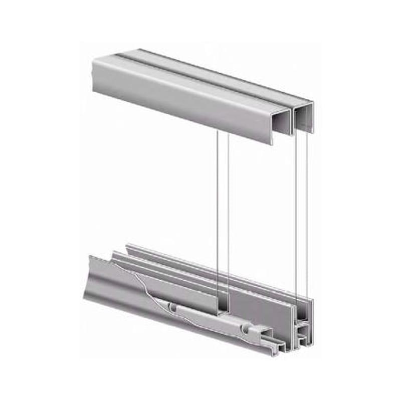 """Knape /& Vogt P2417 6 White 72/""""L Sliding Cabinet Door Track"""