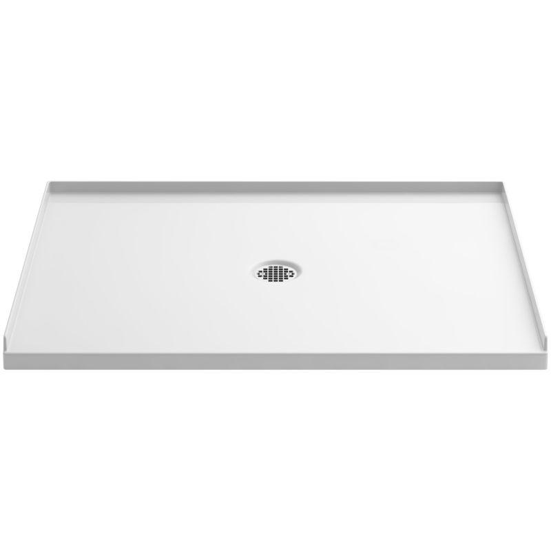 "Luxury Kohler K 1935 0 White Ballast 48"" x 36"" Shower Base with Center Drain Faucet Picture - Cool bathroom shower base"