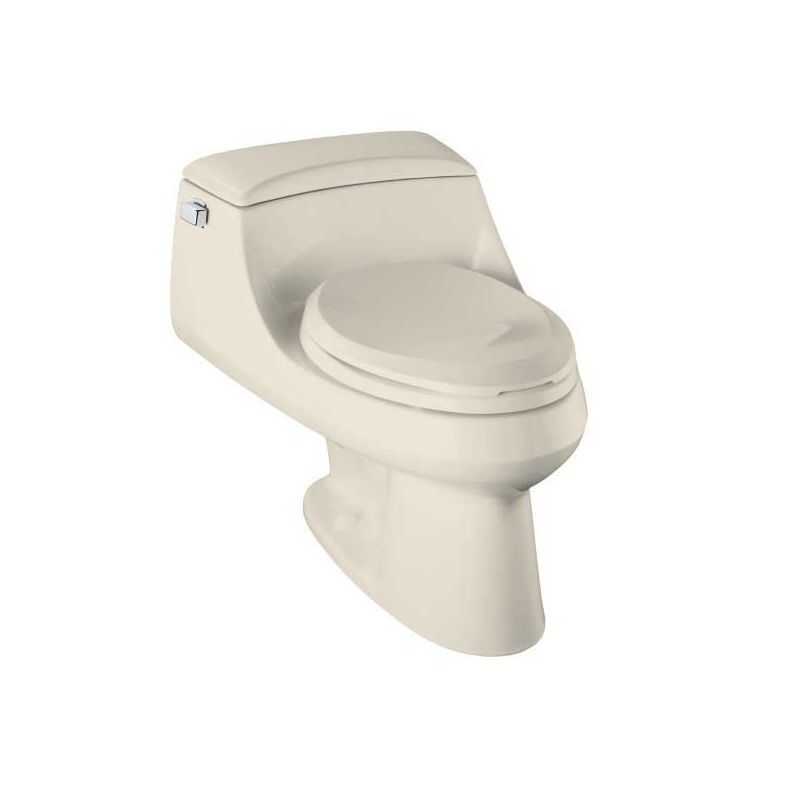 Kohler K 3466 71 Seafoam Green San Raphael One Piece Elongated Toilet With Quiet Close Seat Faucet