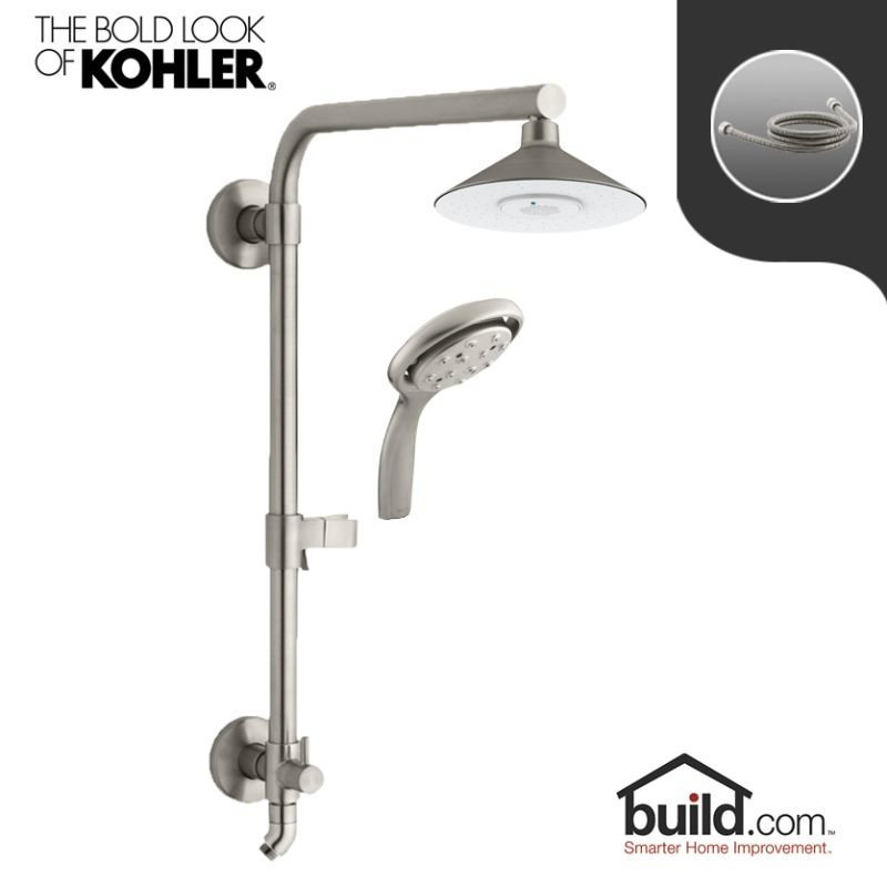 Kohler HydroRail K-99105/K-17493-BN Package Vibrant Brushed Nickel ...