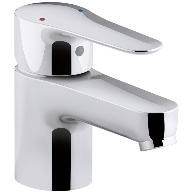 Kohler K-16027-4-CP Polished Chrome July Single Hole Bathroom Faucet ...