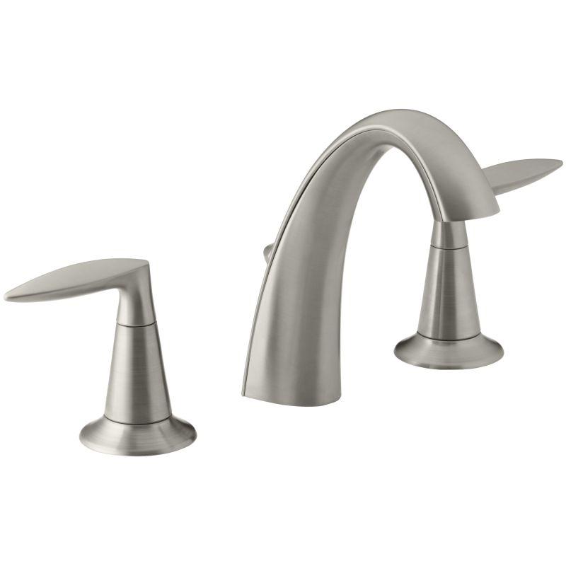 7dd868a0d12 Kohler K 45102 4 Bn Vibrant Brushed Nickel Alteo Widespread Bathroom