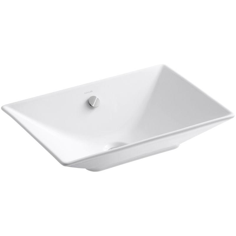Kohler K 4819 0 White Reve 21 58 Fireclay Vessel Sink With