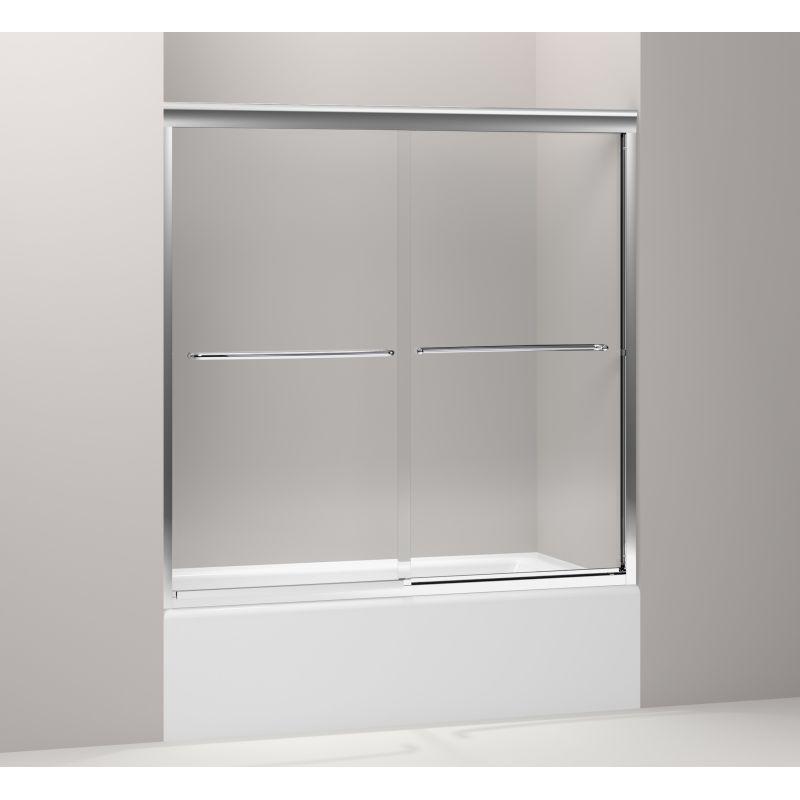 Kohler K 702200 L Shp Polished Silver Fluence Frameless Bypass Bath