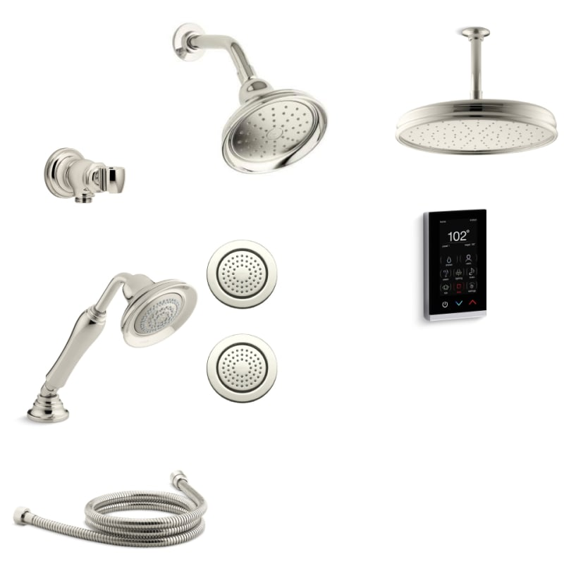 Delicieux Kohler K BANCROFT DTV18 E SN Vibrant Polished Nickel Bancroft DTV+ Eco Shower  System With Single Function Shower Head, Hand Shower, Rain Head, Body  Sprays, ...
