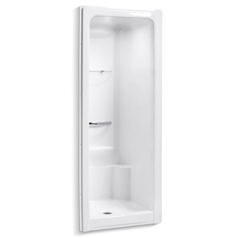 Kohler K-1689-0 White Sonata One-Piece Shower Module with Integral ...