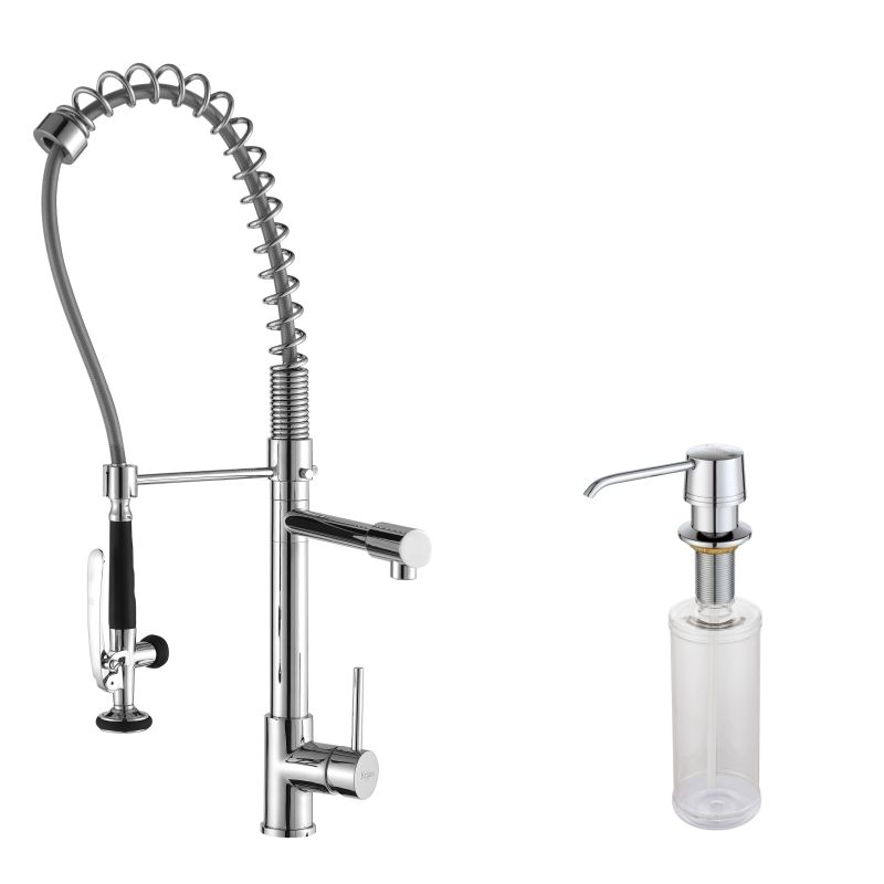 Kraus KPF-1602-KSD-30CH Chrome Commercial Style Pot Filler Kitchen ...