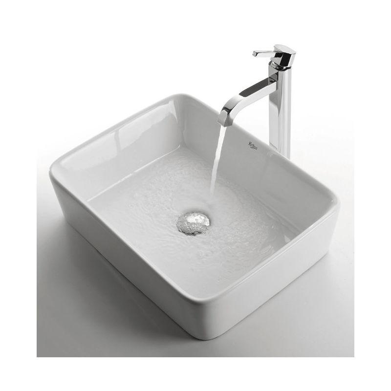 Kraus C-KCV-121-1007CH Chrome Bathroom Combo - 18-3/4\