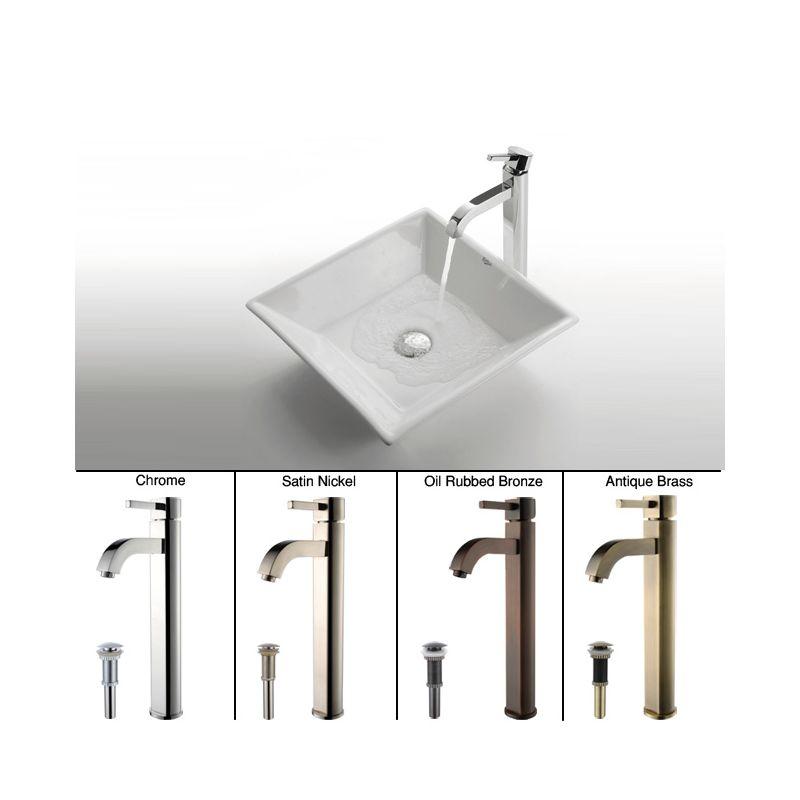 Kraus C-KCV-125-1007SN Satin Nickel Bathroom Combo - 16\