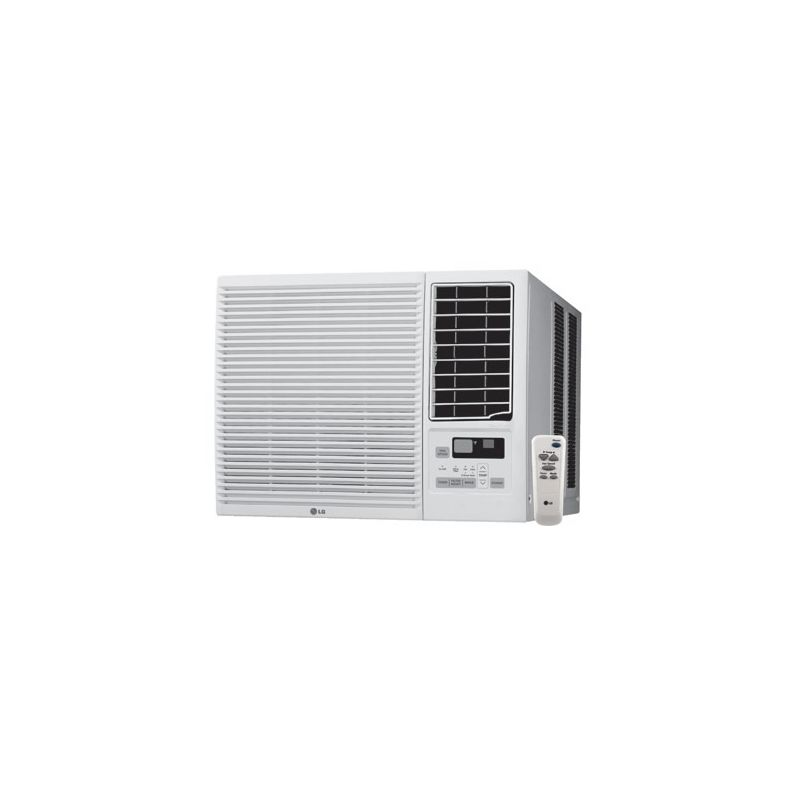 btu 115v window air conditioner with btu electric heater and remote control