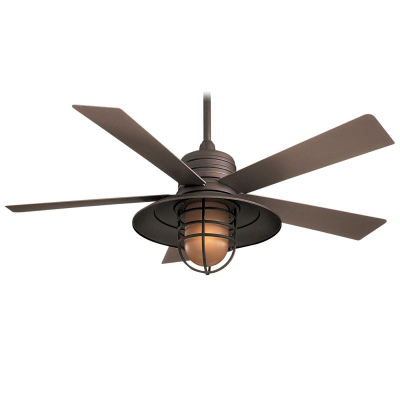 Minkaaire f582 si smoked iron rainman 5 blade 54 indoor outdoor minkaaire f582 si smoked iron rainman 5 blade 54 indoor outdoor ceiling fan light wall control and blades included lightingshowplace mozeypictures Choice Image