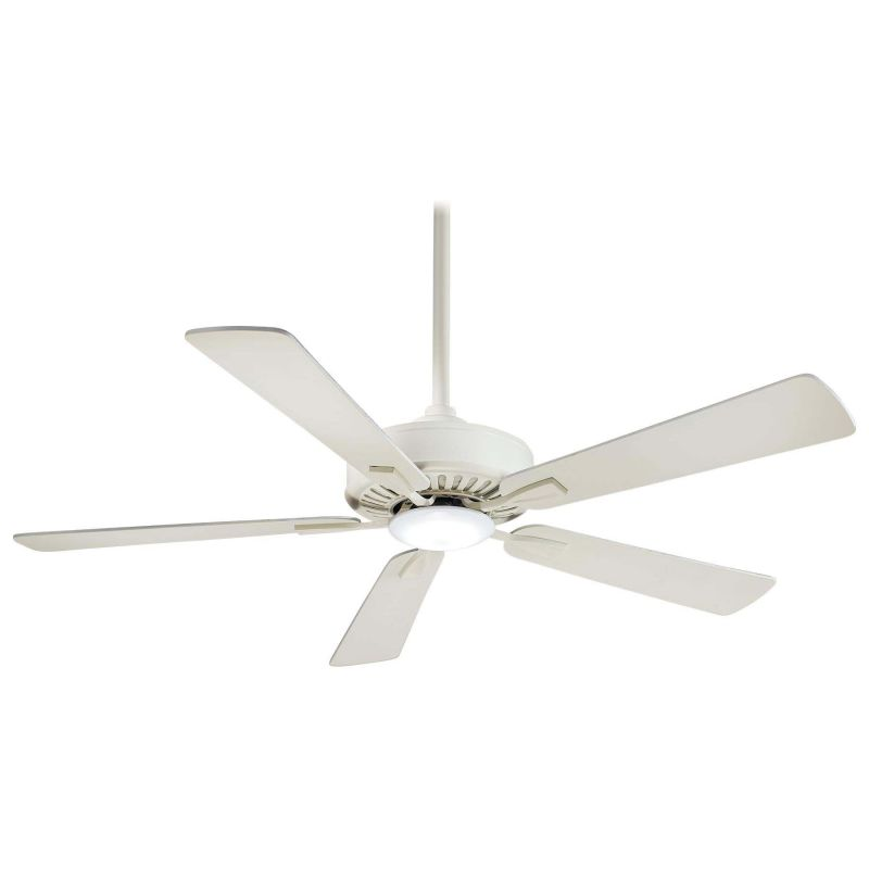 Minkaaire F556l Bwh Bone White 52 5 Blade Indoor Ceiling Fan With Integrated Led Light And Remote Included Lightingdirect Com
