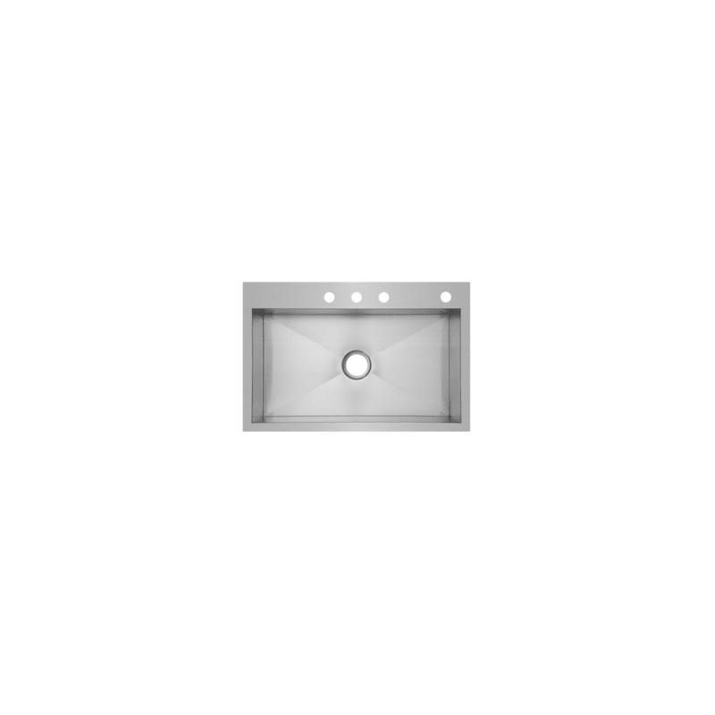 "Mirabelle Undermount Bathroom Sink mirabelle mirdm1bz4 stainless steel 33"" single basin drop in or"