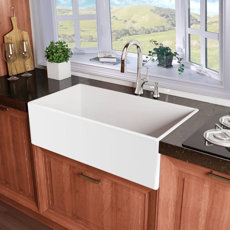white single bowl kitchen sink. Miseno MNO3020AFC White Inferno 30\ Single Bowl Kitchen Sink N