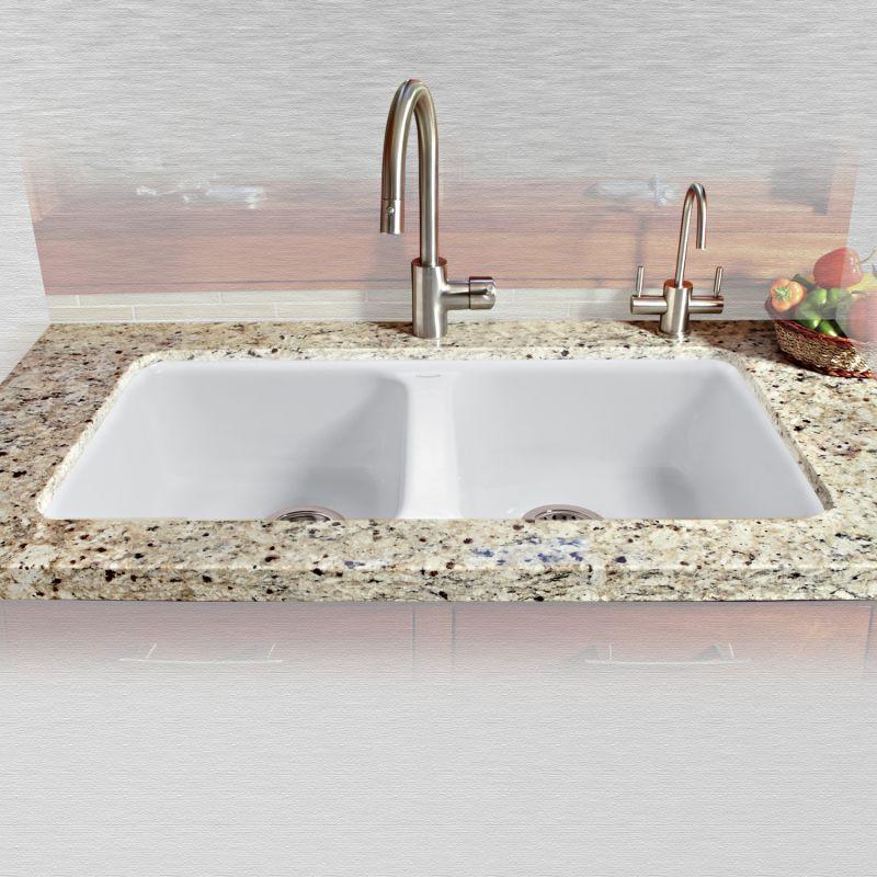 White Cast Iron Kitchen Sink Miseno mci46 5um 20 white 33 double basin undermount cast iron miseno mci46 5um 20 white 33 double basin undermount cast iron kitchen sink faucetdirect workwithnaturefo