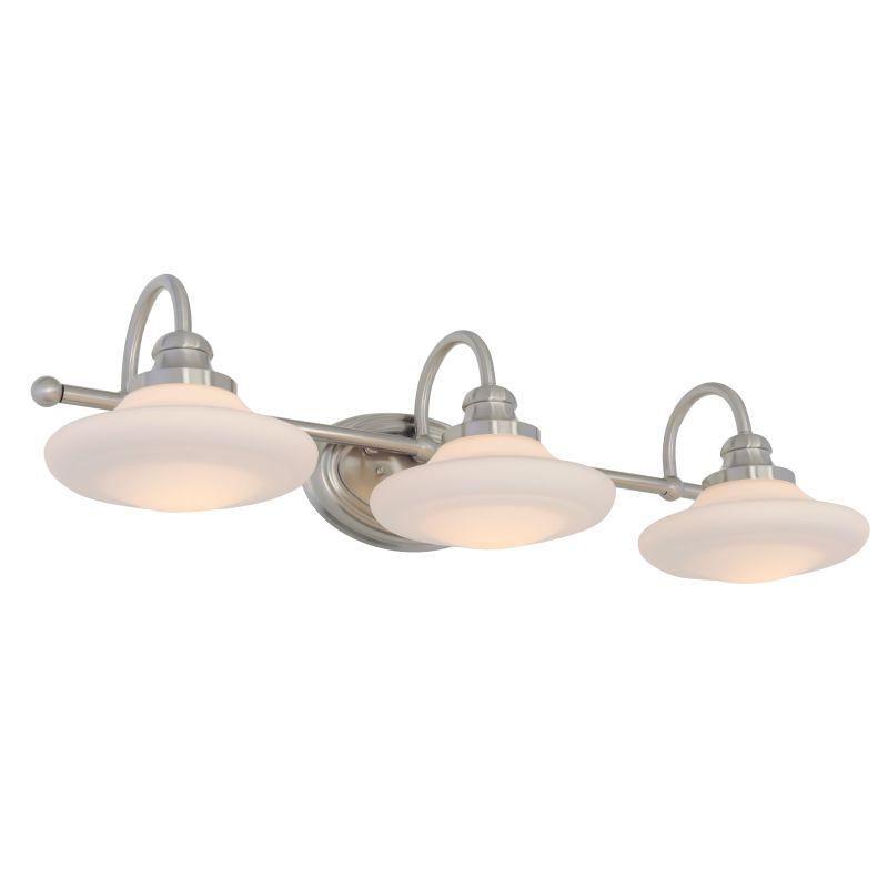 Miseno SBU137292NI Brushed Nickel Santi 3 Light Bathroom Vanity Light    Reversible Mounting Option   FaucetDirect.com