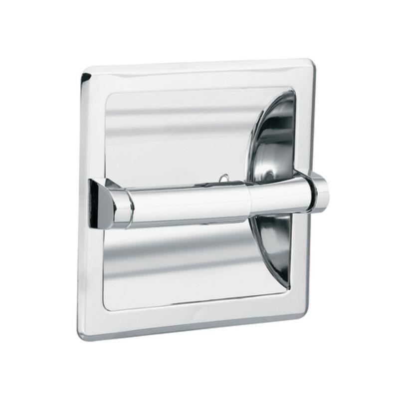 Chrome Commercial Double Roll Toilet Paper Holder