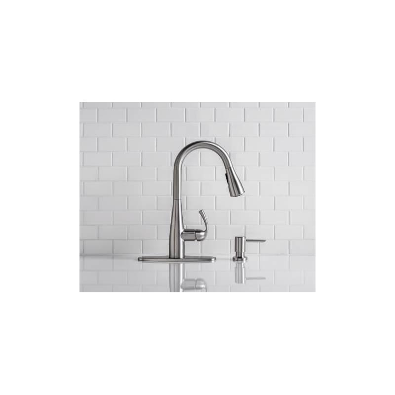 Moen 87014srs Spot Resist Stainless Essie Pullout Spray Kitchen Faucet With Reflex Technology Faucet Com