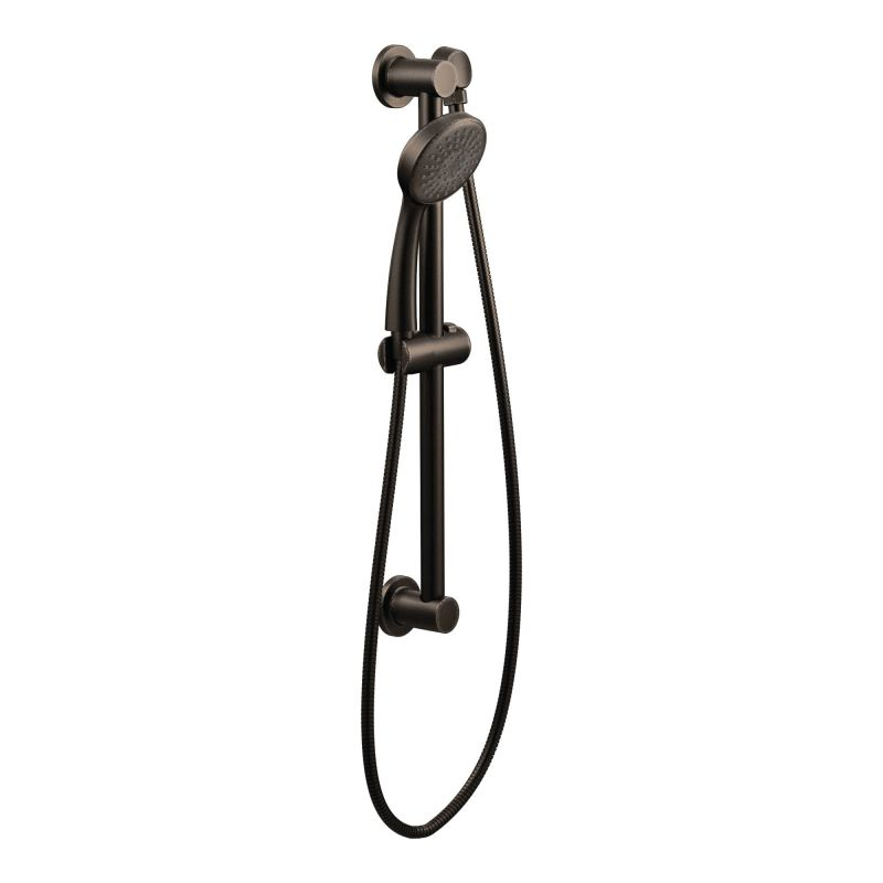 Moen 3868EPBN Brushed Nickel Single Function Hand Shower Package With Hose  And Slide Bar Included   FaucetDirect.com