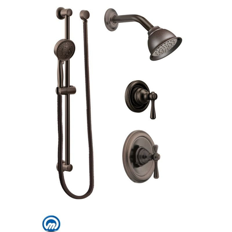 Moen 535BN Brushed Nickel Pressure Balanced Shower System with ...