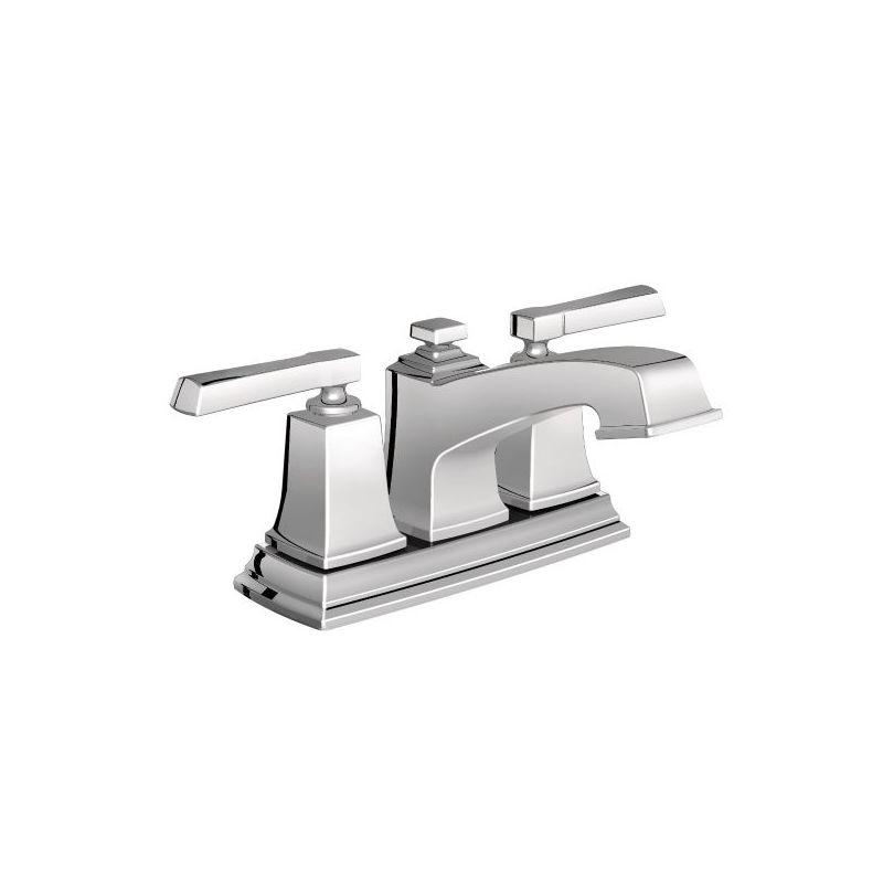 Moen 6010 Chrome Centerset Bathroom Faucet with Metal Pop-Up Drain ...