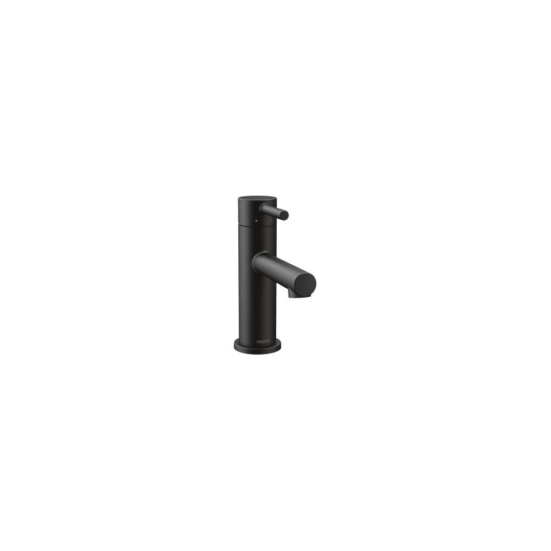 Moen BL Matte Black Align GPM Single Hole Bathroom Faucet - Black single hole bathroom faucet