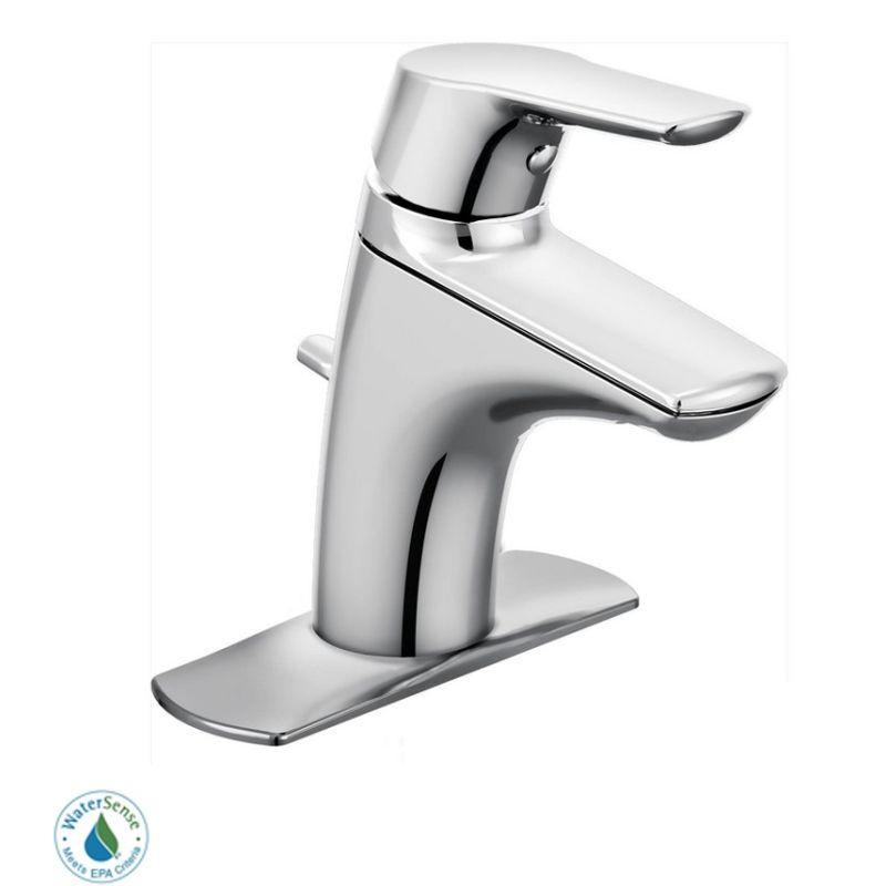 Moen 6810BN Brushed Nickel Single Handle Single Hole Bathroom Faucet ...