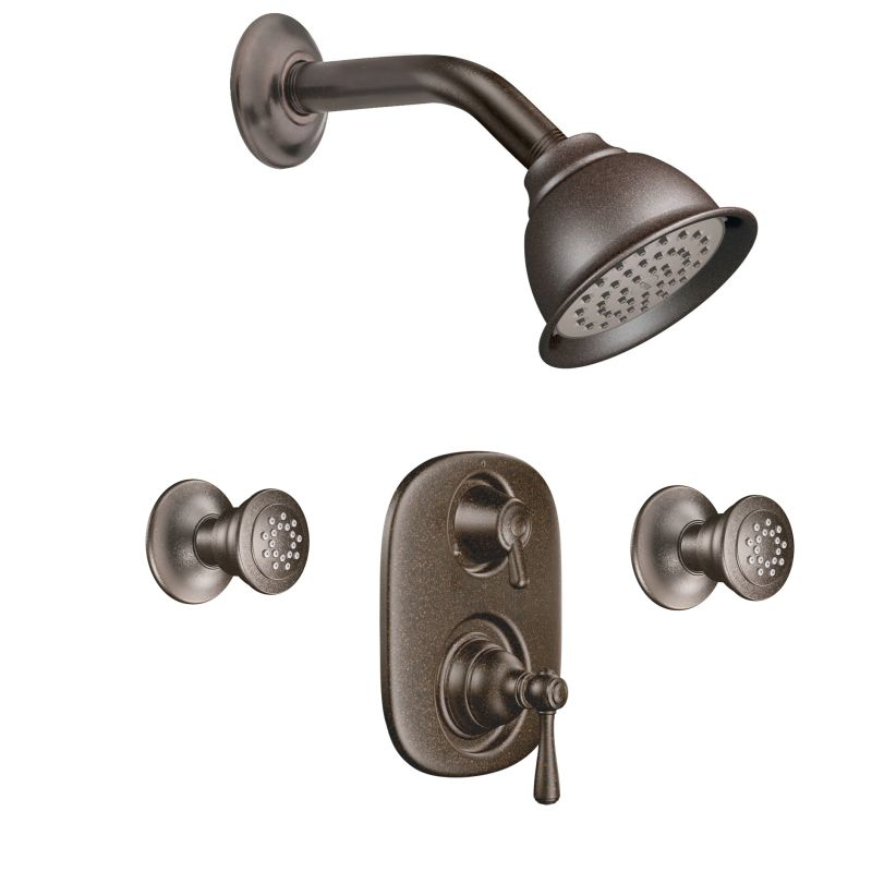 Moen 763BN Brushed Nickel Pressure Balanced Shower System with ...