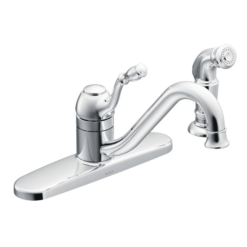 Moen CA87009 Chrome Kitchen Faucet with Side Spray from the Lindley ...