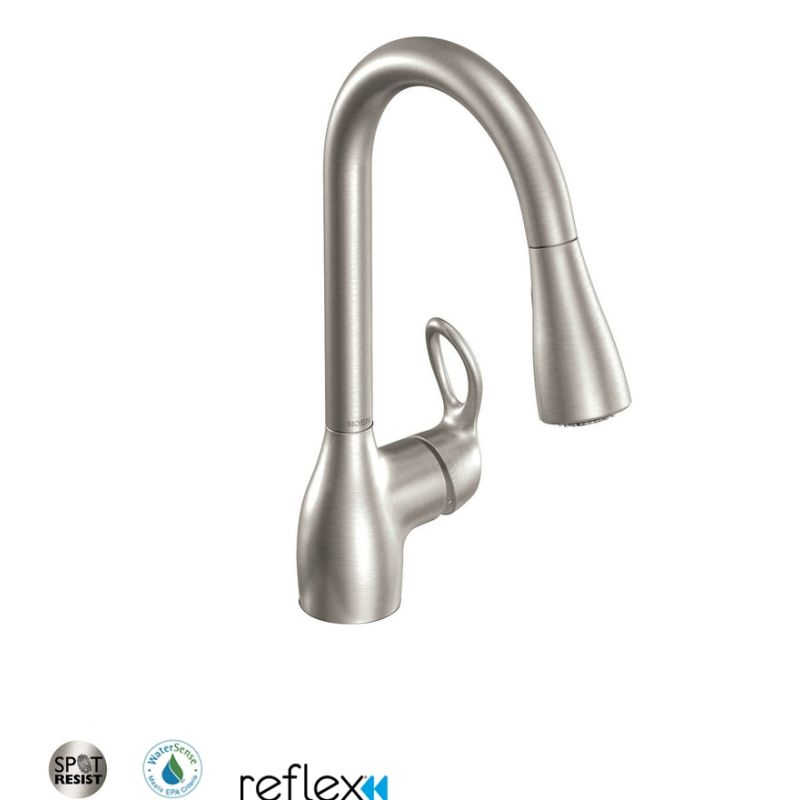 Charmant Moen CA87011SRS Spot Resist Stainless Single Handle Kitchen Faucet With  Pullout Spray From The Kleo Collection (Low Lead Compliant)   Faucet.com