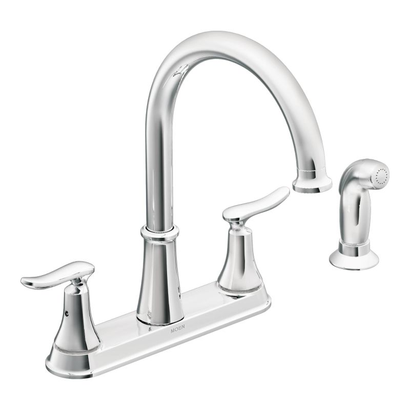 Moen CA87015 Chrome High-Arc Kitchen Faucet with Side Spray from the ...
