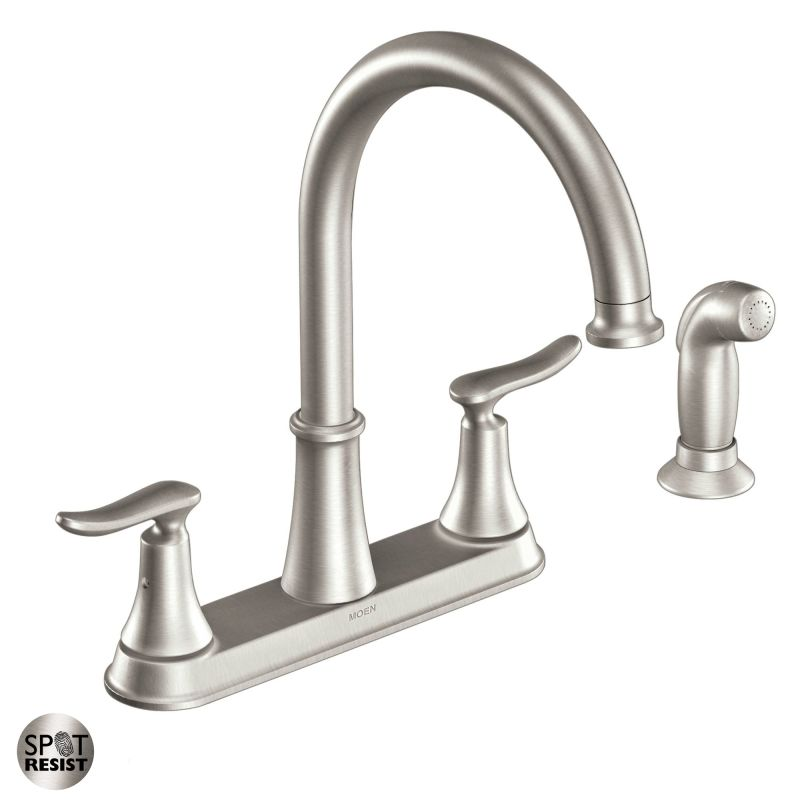 Merveilleux Moen CA87015SRS Spot Resist Stainless High Arc Kitchen Faucet With Side  Spray From The Solidad Collection   Faucet.com