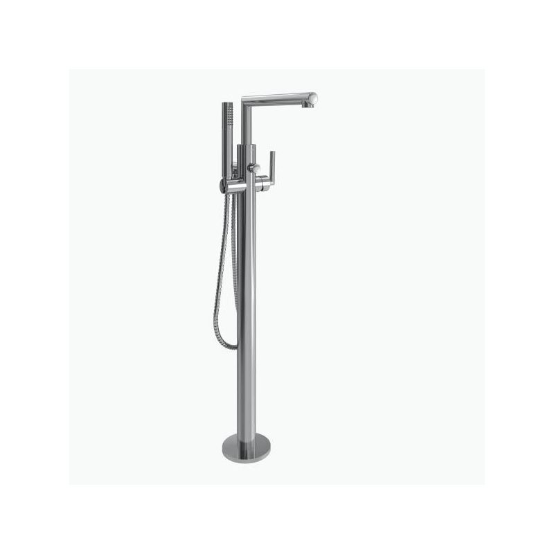 Moen S93005 Chrome Floor Mounted Tub Filler with Personal Hand ...