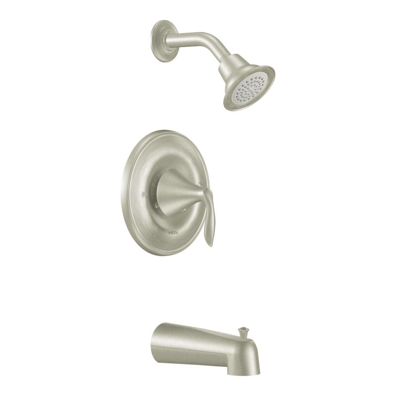 Moen T2133BN Brushed Nickel Posi-Temp Pressure Balanced Tub and ...