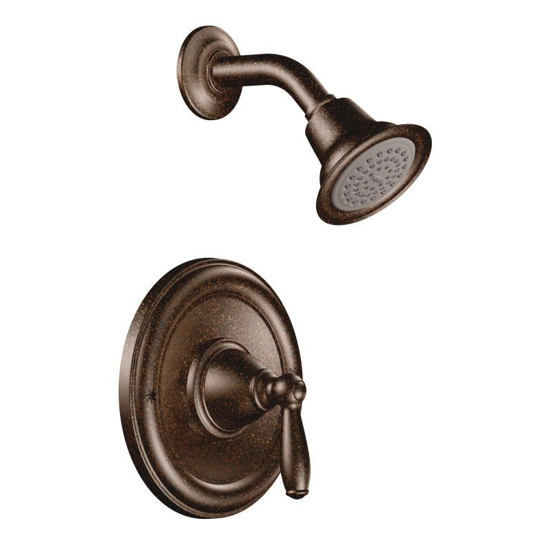 Moen T2152orb Oil Rubbed Bronze Single Handle Posi Temp Pressure Balanced Shower Trim With Head From The Brantford Collection Less Valve Faucet
