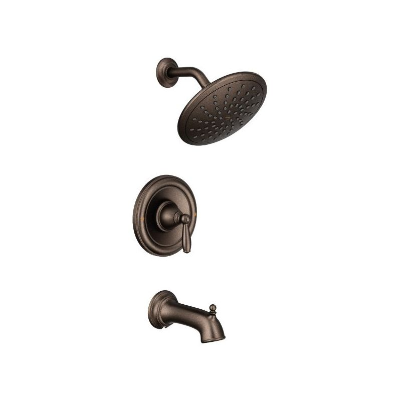 moen t2253ep chrome brantford tub and shower trim package with single function shower head less valve faucetcom