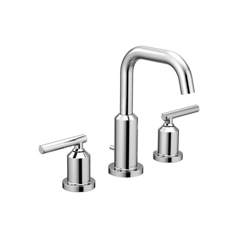 moen t6142 chrome gibson widespread bathroom sink faucet