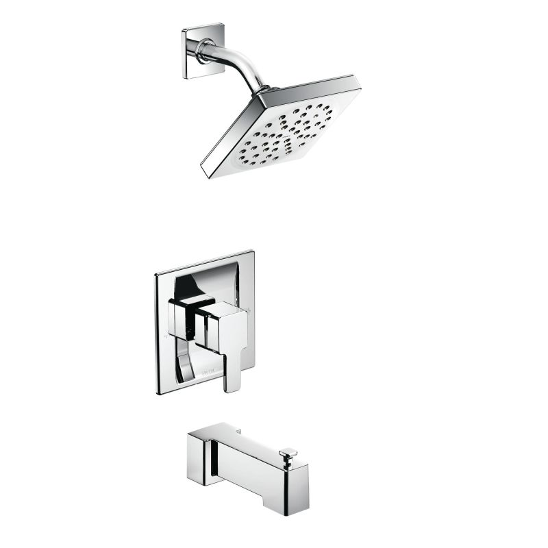 moen ts2713bn brushed nickel posi temp pressure balanced tub and shower trim with 25 gpm shower head and tub spout from the 90 degree collection less - Moen Bathroom Fixtures