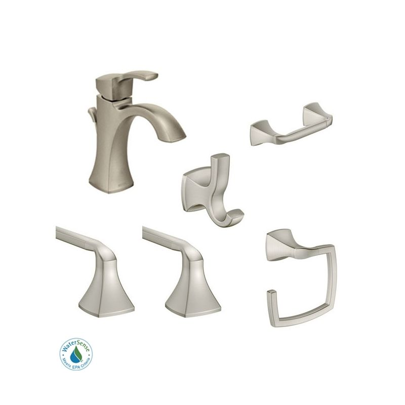 Moen Voss Faucet And Accessory Bundle 4bn Brushed Nickel With Single
