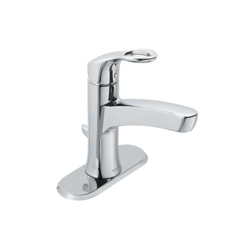 Moen Ws84900 Chrome Kleo Single Hole Bathroom Faucet With Metal Pop